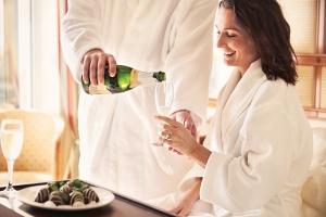 Champagne-Aardbeien-Honeymoon